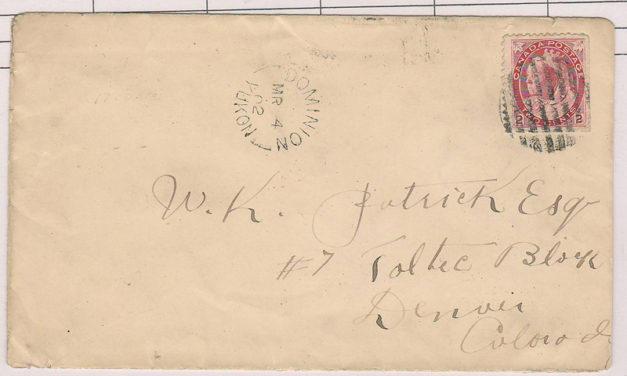 Dominion, Yukon #77bs 4 Mr 1902 2c Cover to Denver, ex Steinhart
