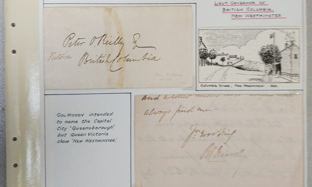 Page 38, 27 Oct 1863 4-pg signed Col. Moody Letter & Cover to Peter O'Reilly, Fraser River Gold Rush collection