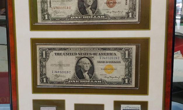 U.S.A. 1942 Emergency Issue Hawaii & N.Africa $1 Bill duo