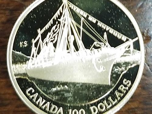 Canada Proof 1991 Empress of India quarter ounce $100 Gold