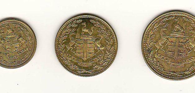 Hudson's Bay Company XF/Unc 1854 1/8 to 1/2 Made Beaver token trio