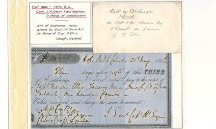 Page 45 (last page), Hope, B.C. 29 May 1862 Capt. Grant Royal Engineers Third Bill of Exchange,Wellburn Fraser River Gold Rush collection