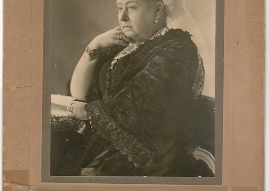 Queen Victoria 6×9.5″ B&W mounted Rotary Co. Photo