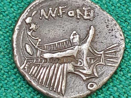 Roman Republic 108-107 BC Mn Fonteius Silver Denarius