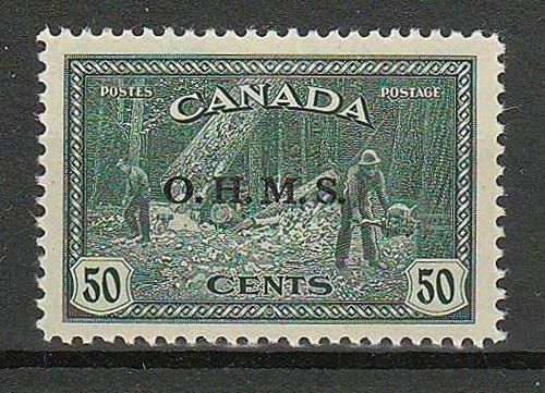 Canada #O9 1949/50 O.H.M.S. 50c