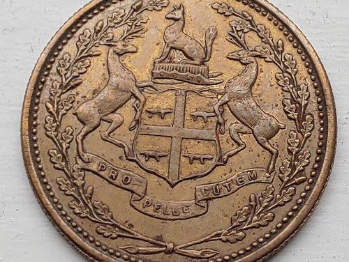 Hudson's Bay Company/Eastmain Unc 1857 1 Made Beaver token
