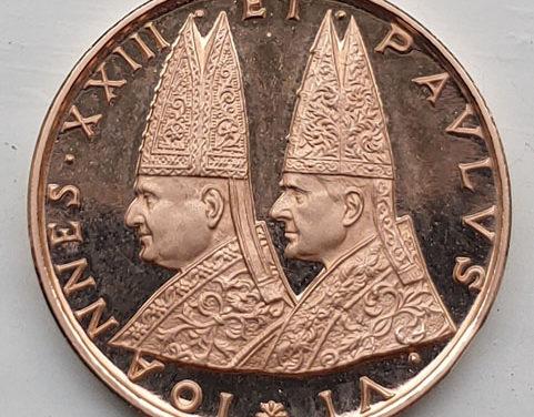 Popes John XXII & Paul VI 5gm Vatican II Gold Medallion