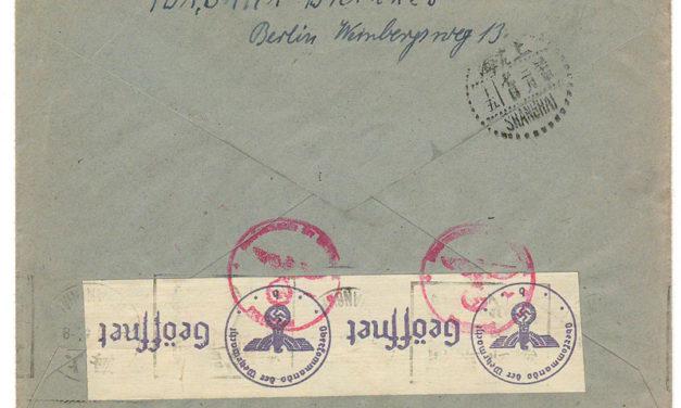 Shanghai incoming 24 Jan 1941 25pf Censored Cover via Siberia