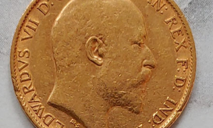 Lot 194 Great Britain VF 1902 Edward VII Gold Half Sovereign, mt mks .117oz