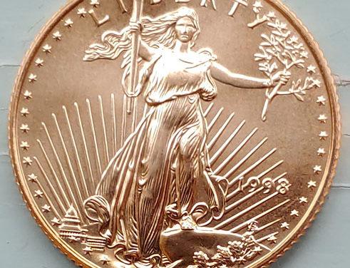 U.S.A. BU 1998 1/4 Ounce pure Gold $10