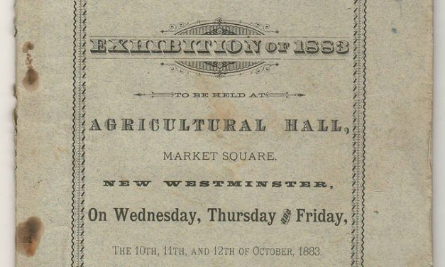 New West, B.C. Sept 1883 60-pg Agricultural Program, ex Brighouse