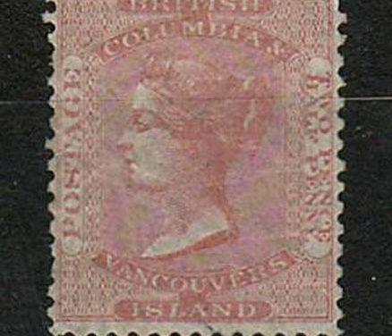 British Columbia #2 OG 1860 2.5d