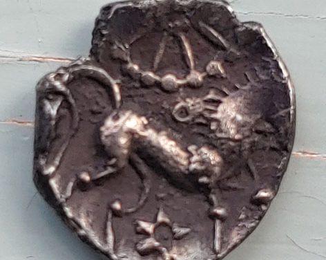Celtic Britain Iceni Bury Type B circa 50 BC Silver Unit