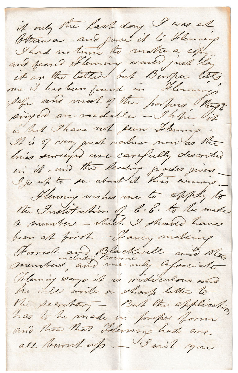 Ottawa 17 Jan 1874 content rich 4-page Marcus Smith letter to his wife