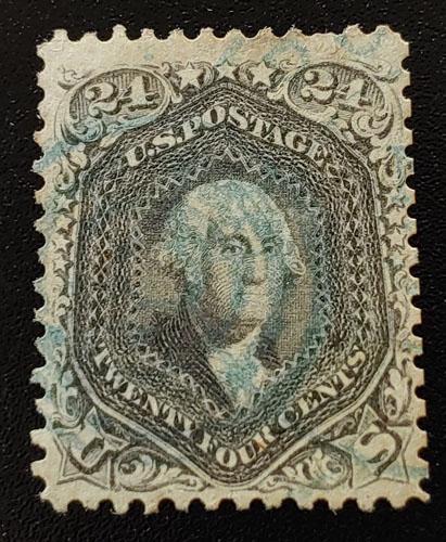 U.S.A. #78c F/VF Used 1862 24c Blackish Violet, reperfed US$17,500