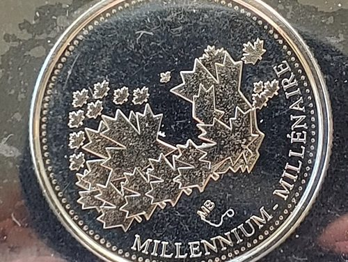 Canada ICCS MS62 2000 Millennium Mule 25 Cents