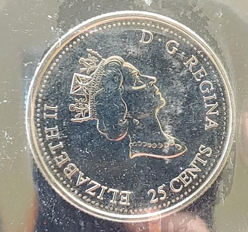 Canada ICCS MS62 2000 Millennium Mule 25 Cents $300+