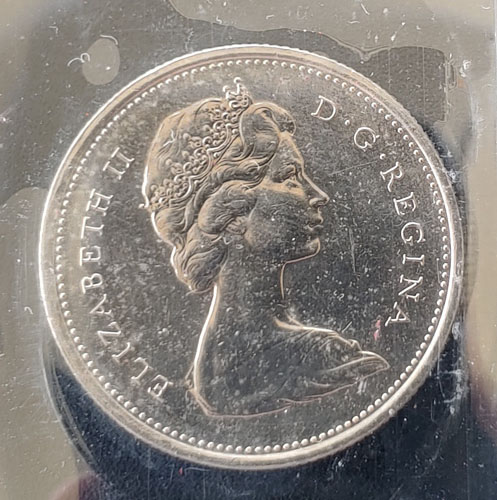 Canada ICCS MS63 1973 Large Bust Variety R.C.M.P. 25 Cents $750