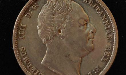 G.B./Colonial Canada AU/XF+ 1836 William IV Silver Half Crown +