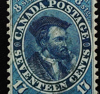 Canada #19 VF Used 1859/1864 17c Cartier shade