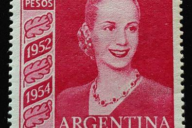 Eva Peron, Argentina #627 1954 3 pesos