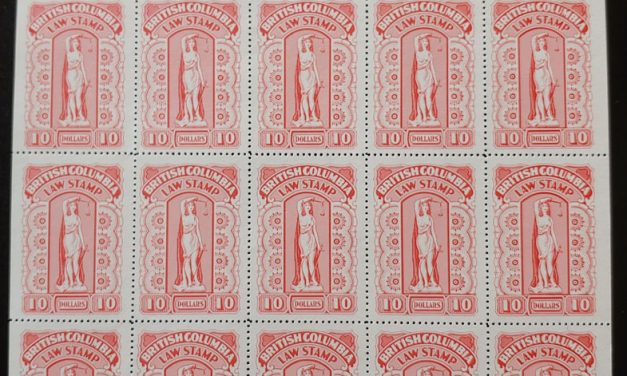 British Columbia #BCL57 VFNH Plate Sheet incl Flaw Above C
