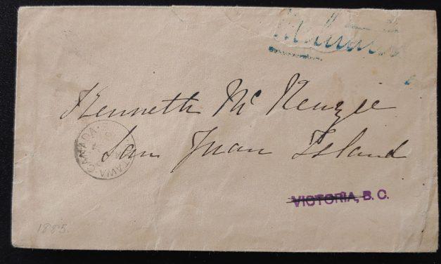 Kenneth Mckenzie repaired 1872 incoming and 1885 free frank SJI Cvrs