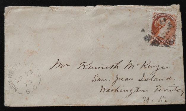 Kenneth Mckenzie 1879 and 1890 3c SQ Cover duo to San Juan Island