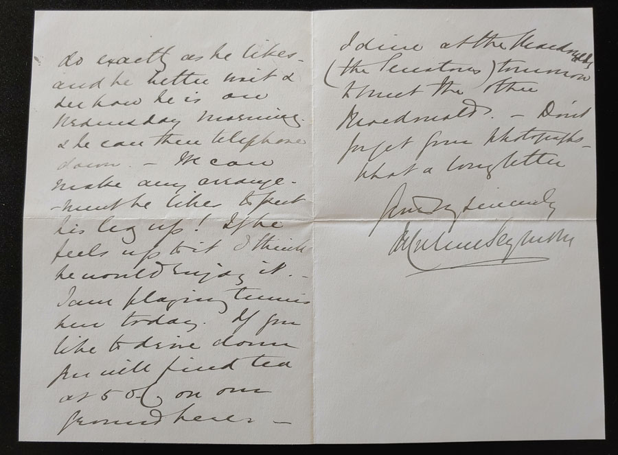 Macdonald 1886 Dinner Party Invitation to O'Reilly from Admiral