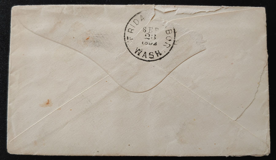 Kenneth Mckenzie 1892 3c SQ Cover & contents to Friday Harbour
