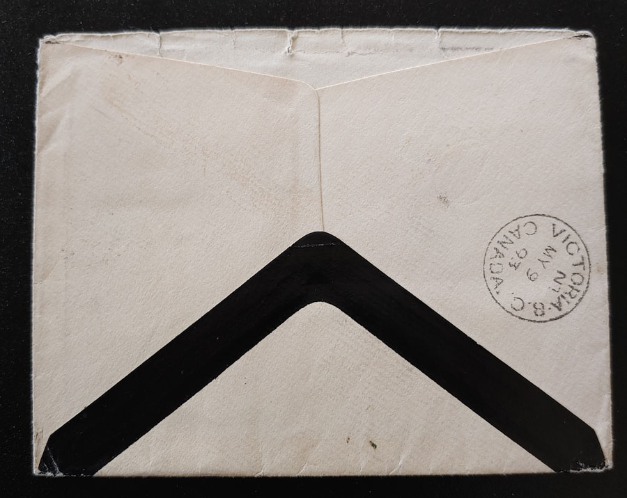 Lady Macdonald 1873 3c Mourning Cover & contents to O'Reilly