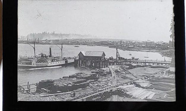 Waterfront Best Vancouver in 1886/1888 3.5″ Glass Lantern Slide