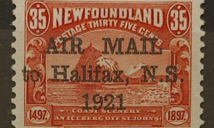Newfoundland #C3 VF+ Mint HR 1921 35c Halifax Airmail