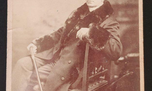 John A. Macdonald 4×6.5″ Westlake London, On. 1890s Cabinet Photo