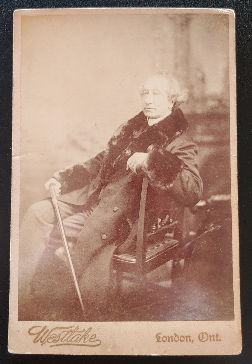 "John A. Macdonald 4×6.5"" Westlake London, On. 1890s Cabinet Photo"