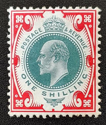 G.B. #138 Fine Mint Edward VII Shilling US$92