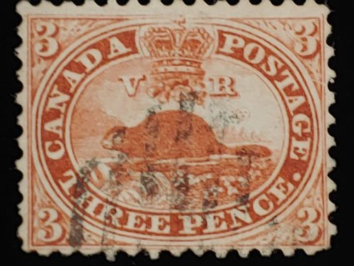 Canada #12 gen Fine Used 1859 3d Perforated Pence