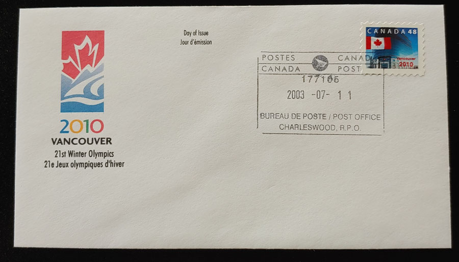 Canada #1991 11 Jl 2003 Vancouver 2020 private FDC less than 100 known