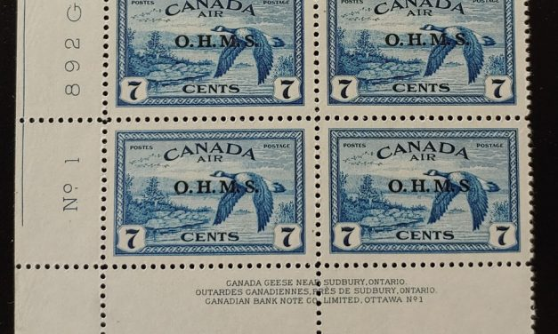 Canada #CO1a VFNH LL Plate 1 No Period After S Block (4)