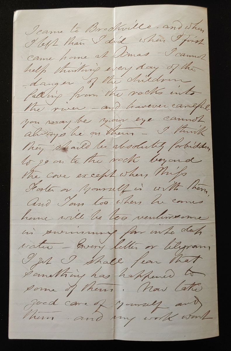 Victoria, B.C. 11 May 1874 2.5 pg Marcus Smith letter to his wife
