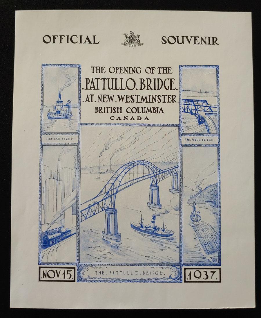 New Westminster, B.C. 15 Nov 1937 Bridge Opening Cover ex Wellburn