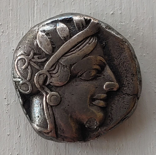 Athens 490-430 BC 16.97gm Owl Silver Tetradrachm w/ Athena etc