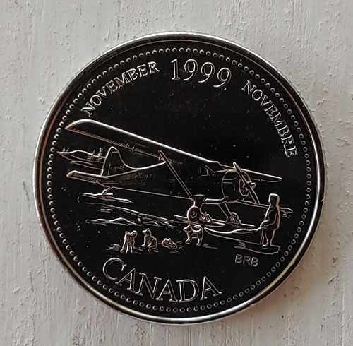 Canada BU 1999 November no denomination Mule 25 Cents $100+