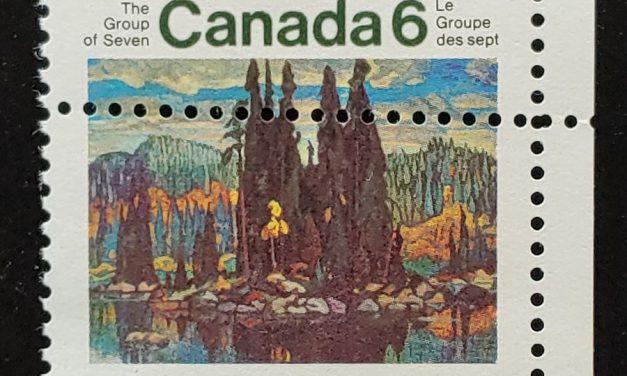 Canada #518 Mint 1970 6c Group of Seven Misperf, ex Penko