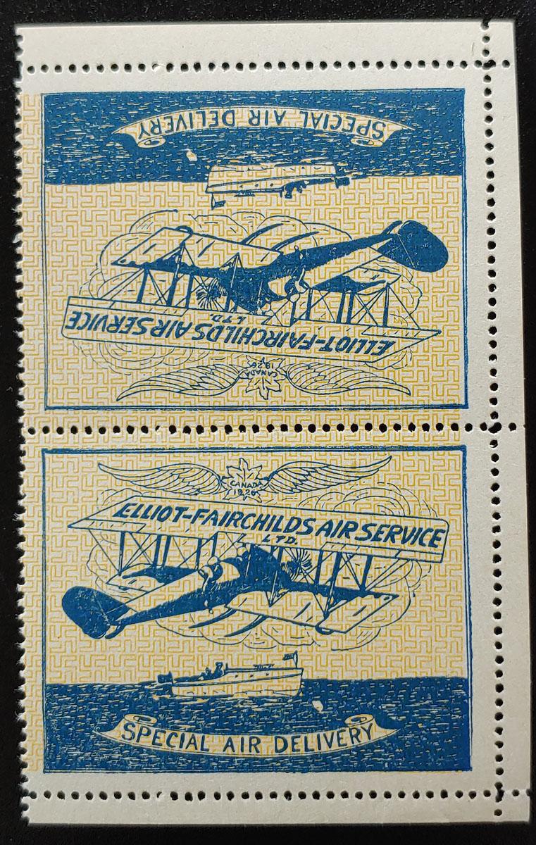 Elliot-Fairchilds #CL9 VFNH 1926 25c Tete-Beche Pair $225