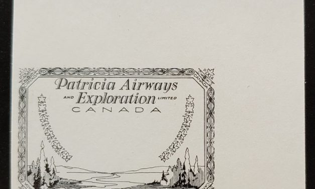Patricia Airways #CL23P VF 1927 Black Proof on White Paper