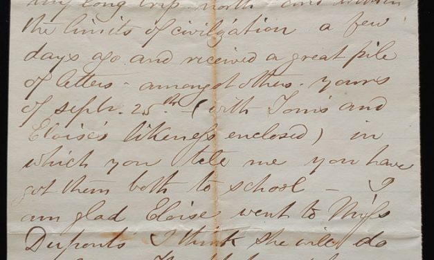 Kamloops, B.C. 30 Oc 1874 Marcus Smith letter to his wife
