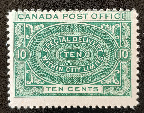 Canada #E1 Fine Never Hinged 1898 10c Special Delivery $150