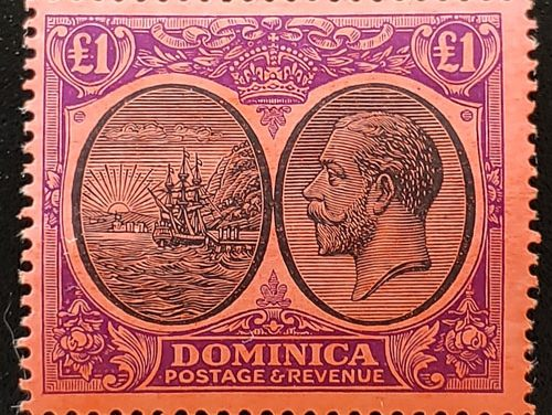 Dominica #85 Never Hinged 1923 George V Pound
