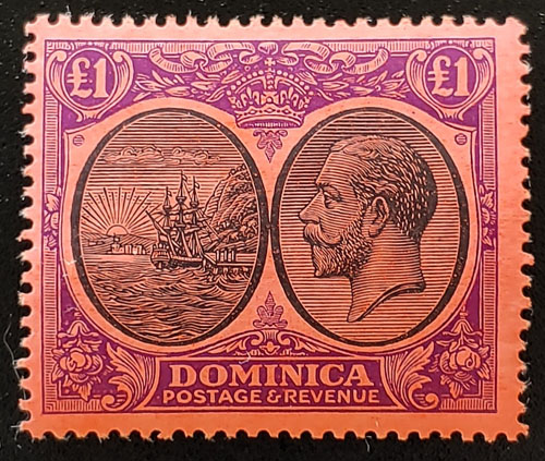 Dominica #85 Never Hinged 1923 George V Pound US$240